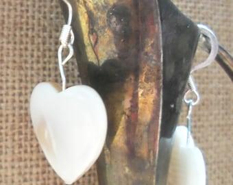 Shell Heart Shapped Earrings