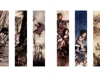 Arthur Rackham - Peter Pan in Kensington Gardens (12 Printable Bookmarks)