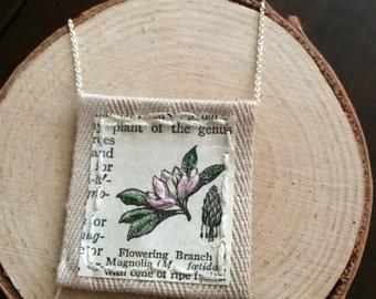 Dainty Handmade Flower Magnolia necklace