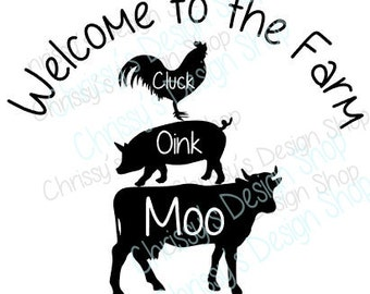 Farm animals SVG / Cow svg / pig svg / chicken svg / Farm SVG / Farm sign template / vinyl crafts / farm clip art / farm scrapbooking