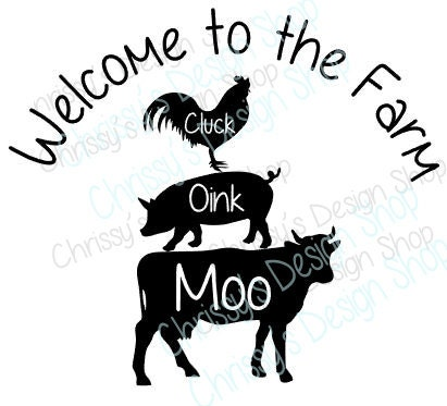Farm Animals Svg Cow Svg Pig Svg Chicken on door shop