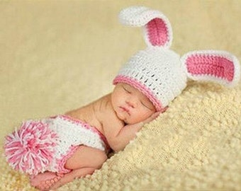 Crochet Newborn Bunny PhotoProp