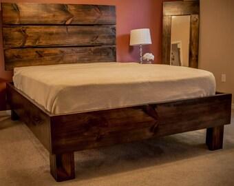 Rustic Handmade Platform Bed, Queen, King, 150 off!