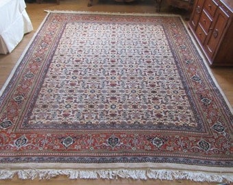 Indian Wool Rug Indo Helati 8.ft 5 inches by 10.ft 2 inches 1/2 inch thick very high quality  fabulous pattern not sure when it was made.