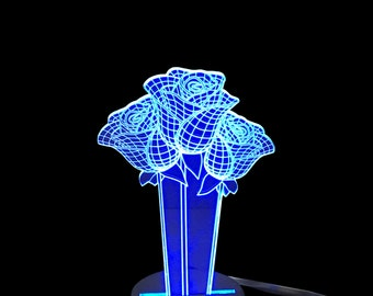 Roses- LED Night Light Lamp 3D