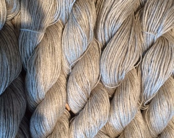 100 % mohair yarn, 3 ply gray or off white