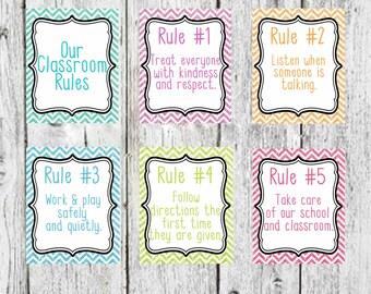 Classroom Rules, Glitter Classroom Rules decor, Teacher Decor