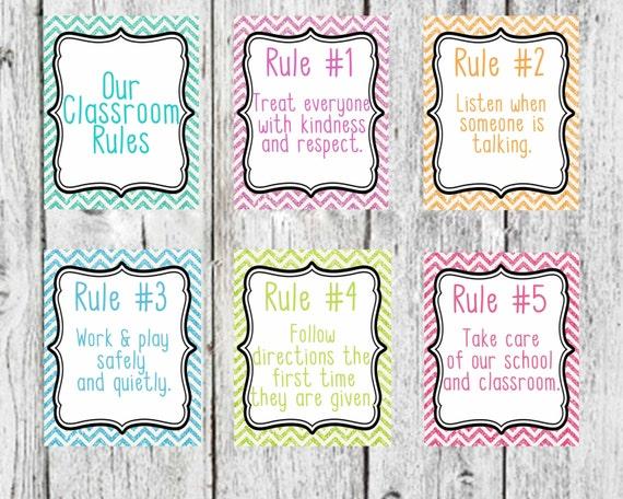 Classroom Rules Decor : Classroom rules glitter decor teacher