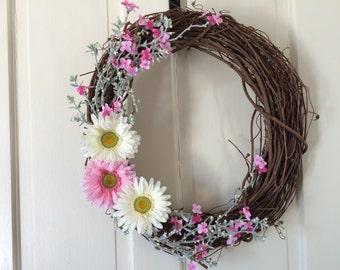 Daisy Grapevine Wreath