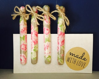 Decoupage dolly pegs x4