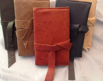 Chocolate Brown hand-crafted leather covered journal