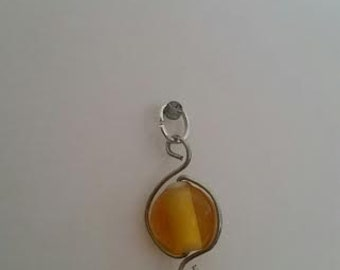 Yellow bead charm