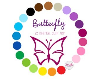 BUTTERFLY Digital Clip Art
