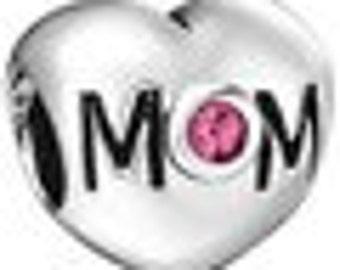 Heart Mom Charm
