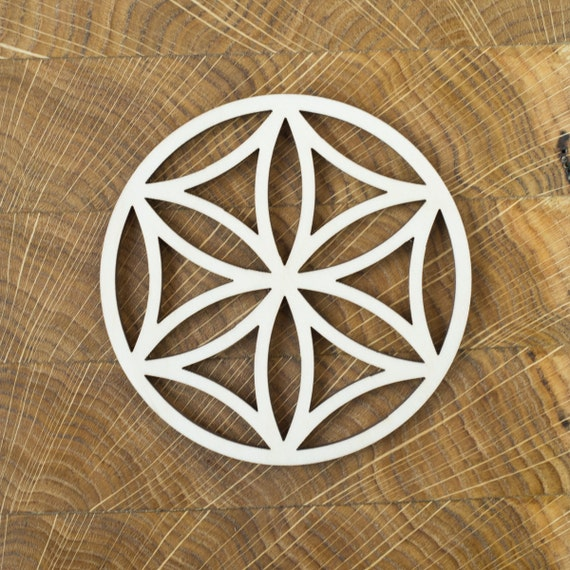Etsy Round Coffee Tables: Items Similar To Flower Of Life Coasters, Geometric