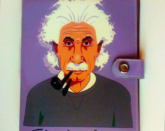 Planner a5 size 6 ring with Albert Einstein