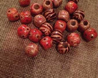 wooden beads for jewelry in ethnic style
