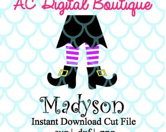 Witch Legs Digital Cut File--Instant Download--SVG, DXF, PNG Files for Cutting Machine Software