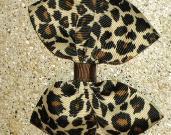 Cheetah Hair Bow