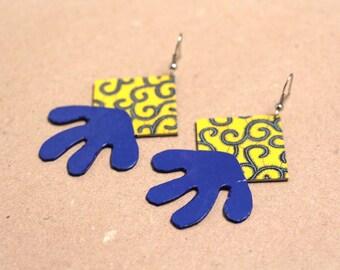 """Paper earrings """"Parnaíba"""" - drop earrings oriental inspiration"""