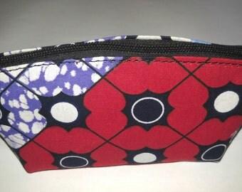African Print Cosmetic Bag, Makeup bag, Ankara Makeup bag, Cosmetic bag, cute ankara bag, Toiletry bag, Bridal Gift, Makeup pouch