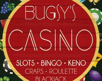 Custom Casino Sign Digital Download