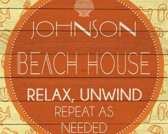 Custom Beach House Sign Digital Download