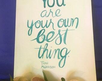 Toni Morrison quote print