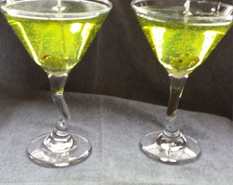 Gel Wax Martini Glass Candles