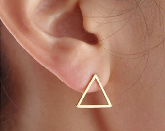 Small earring triangle, gold