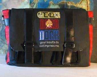 Geek Nerd Dork Scifi LARGE Messenger Bag