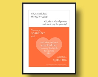 Movie Quote Poster Print - Naughty Zoot