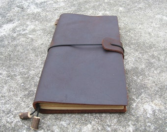 Handmade Leather Travel Notebook Cover, Notebook Jacket,leather Journal Field Notes Cover Travel Diary sketchbook