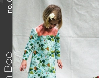 Green Bee Patterns - Lily Dress