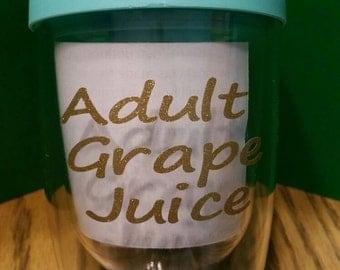 10oz wine traveler adult grape juice