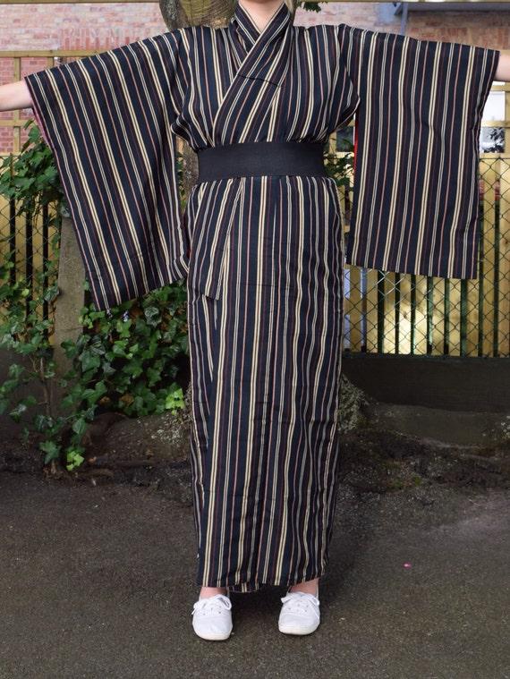 Vintage kimono striped cotton EV39