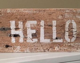 Hello block sign