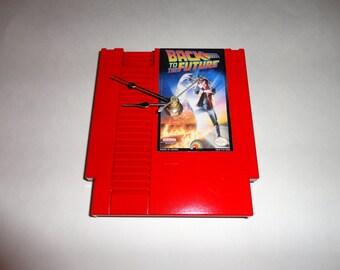 Custom NES Back To The Future Wall Clock Quartz Nintendo Decoration Color RED