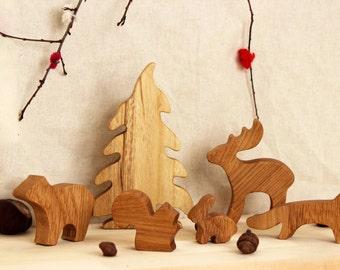 Wooden Forest Animals