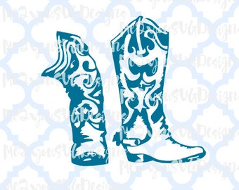 Cowgirl Boots SVG,EPS,PNG,Studio