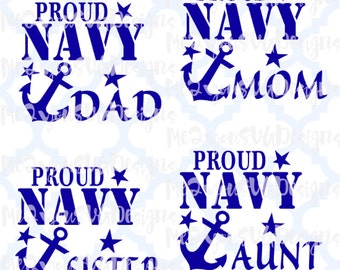 Proud Navy Collection SVG,EPS,PNG,Studio