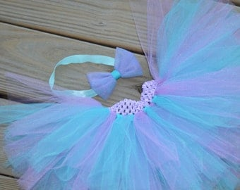 Turquoise and Light Purple Baby/Toddler Tutu
