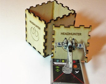 X-Wing Miniature Game HeadHunter Laser Cut Storage Box