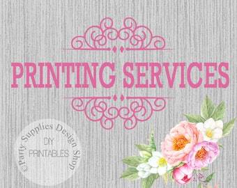 PRINTING SERVICES Cardstock or Photo Paper  FREE Envelopes with all Printed Invitations