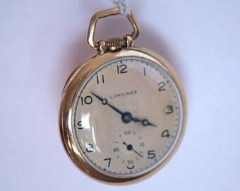 Vintage Gold Longines Pocket Watch