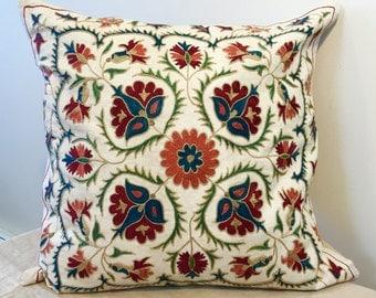 Uzbek suzani pillow # 11