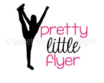 Pretty little flyer cheerleading cheer SVG instant download design for cricut or silhouette