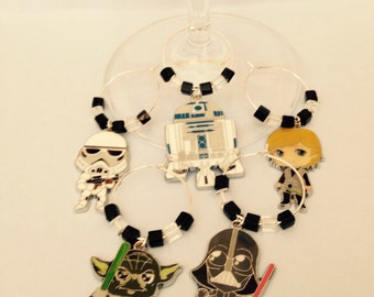 Star Wars Wine Glass Charms