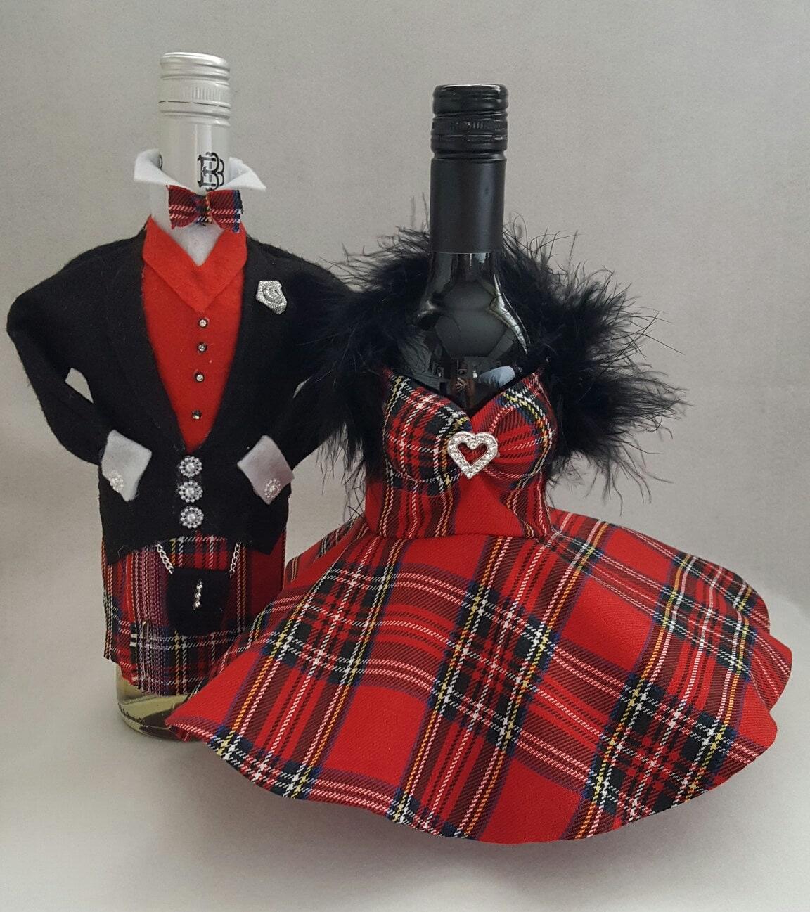 Wine Bottle Cover Champagne Bottle Cover Tuxedo Amp Kilt