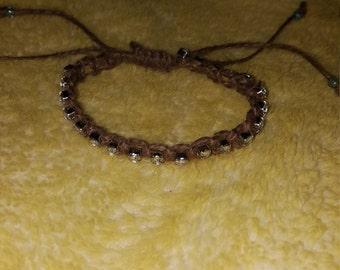 Hemp bracelet with some sparkle